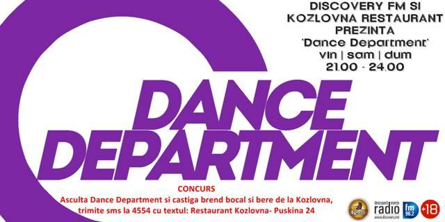 Atention!!! New season on Dance Department (orar, info in curind) + Concurs la 4554